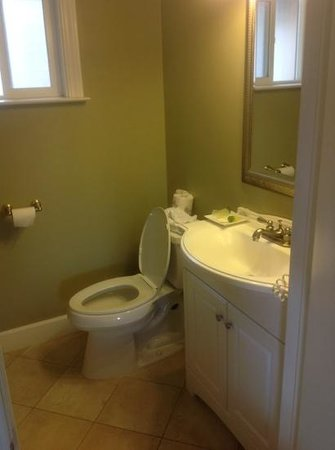 Monterey Peninsula Inn: Bathroom at Sea Breeze. Simple but it all worked fine