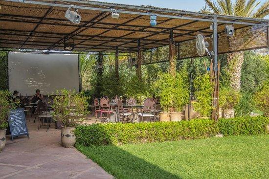Manzil La Tortue : Restaurant en plein air