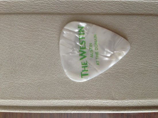 The Westin Austin at The Domain: In Room Guitar Pics during SXSW