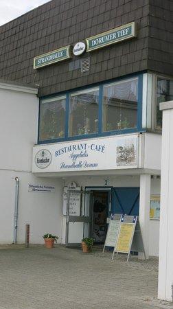Strandhalle Dorum: Eingang zum Restaurant