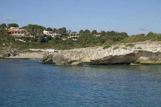 Club Cala Romani : View from cliffs 10 minute walk down path.