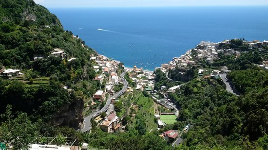 Sorrento First Choice Car Service: Positano from the top of mountain