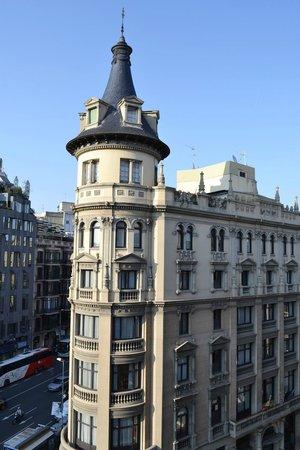 hotel Marvi, Barcellona, vista dal balcone