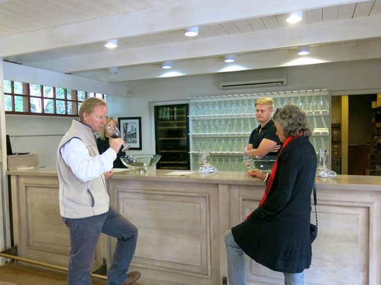 Greatest Africa Private Wine Day Tours: Richard tasting wine @ Buitenverwachting