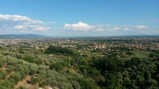 Villa Sermolli : Ausblick auf Buggiano