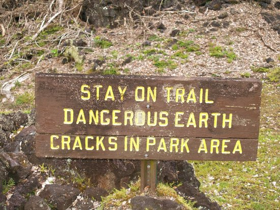 Lava Tree State Park : We heeded the warning!