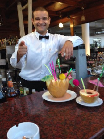 Odessa Beach Hotel: Great cocktails from Demetris. Top guy!!