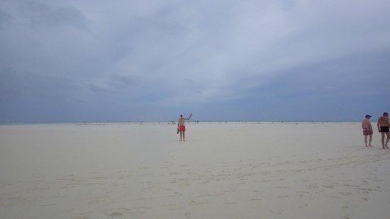 One Foot Island: Walking on sandbar, one check on my bucket list.