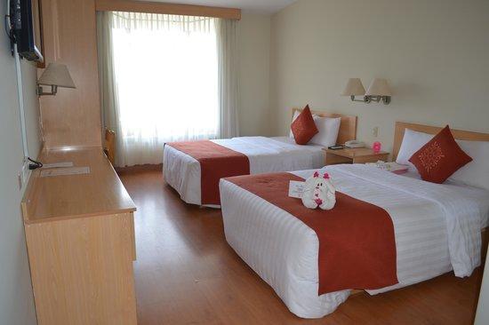 Eco Inn Puno Titicaca Lake: Como fui recebida em meu quarto.