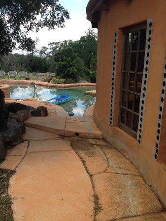 Trois Estate at Enchanted Rock: The pool