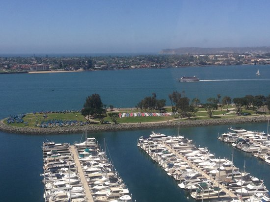 Marriott Marquis San Diego Marina: View from my room - 17th floor