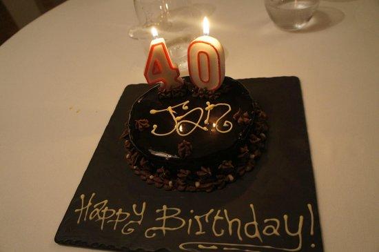 Gran Melia Rome: Birthday Cake