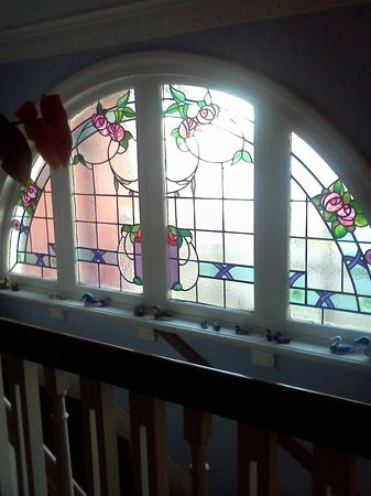 Ferrycraigs House: Stained glass window upstairs