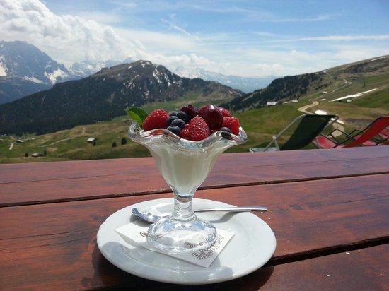 Rifugio Troier: Yogurt con frutti di bosco