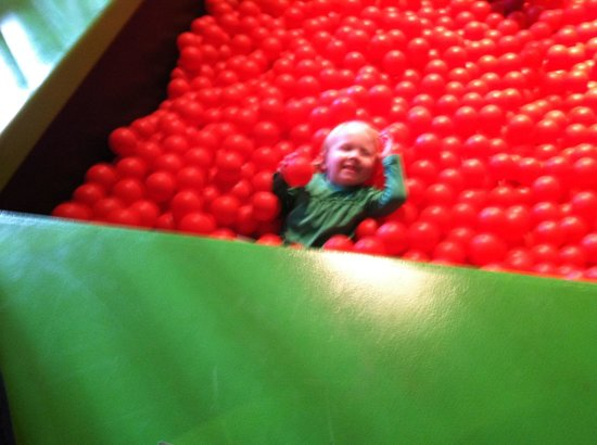 Edaville Family Theme Park: Play time in the kids room enjoying the ball pit