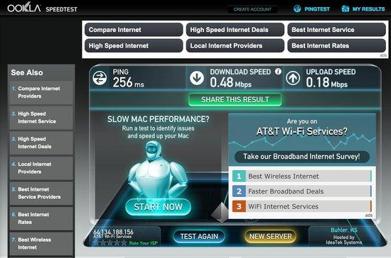 Hilton St. Augustine Historic Bayfront: Internet speed 2
