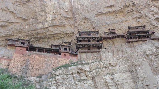 Mizhi County, China: external view hanging monastery