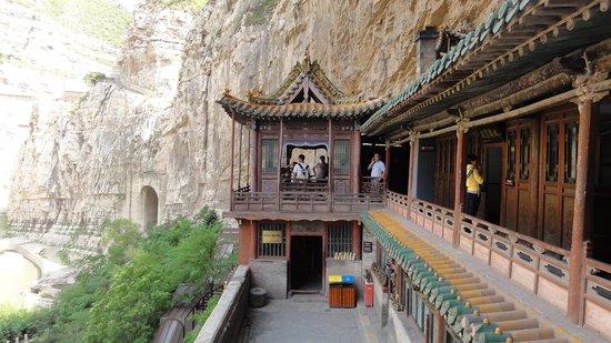 Mizhi County, China: internal view hanging monastery