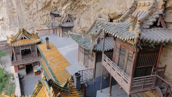 Mizhi County, Kina: internl view hanging monastery