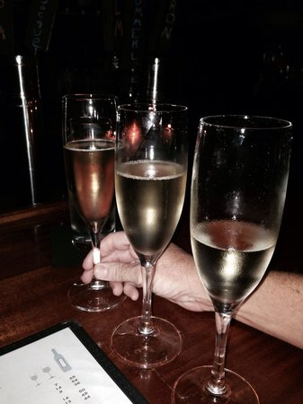 Social Restaurant + Wine Bar: My wife's sparkling sample