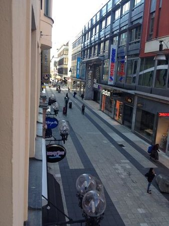 Scandic Klara: vy från mitt hotell fönster