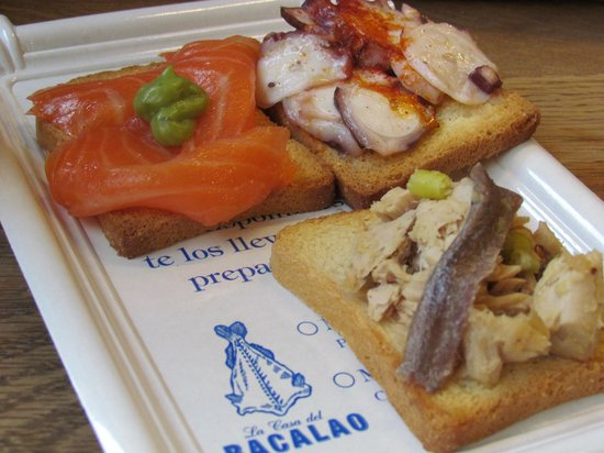 San Anton Market : seafood tapas from bacalao (stand #19)