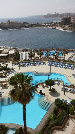 Corinthia Hotel St. George's Bay: View from the fourth floor