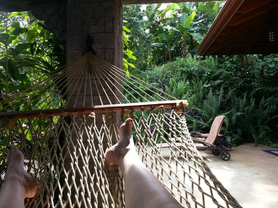 The Springs Resort and Spa: The hammocks outside our room