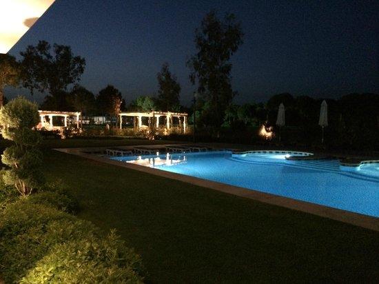 Cornelia Diamond Golf Resort & Spa: Бассейн ночью.