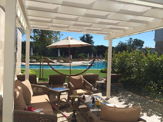 Cornelia Diamond Golf Resort & Spa: Вид из нашей виллы!
