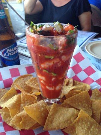 Palm Street Pier Restaurant and Bar: Shrimp Veracruz cocktail