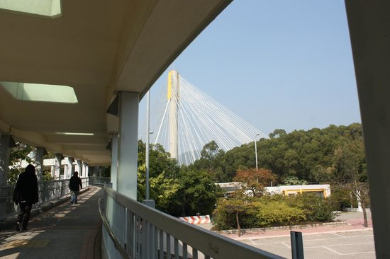 Tsing Ma Bridge: The way to the viewpoint