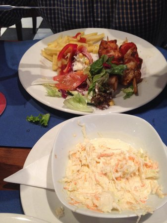 Smith's Cafe-Bar-Restaurant : Chicken and bacon kebabs. All freshly cooked so good