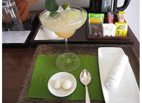 Anantara Angkor Resort : Welcome beverage