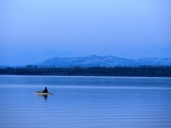 Grant Village Lodge : Lake Yellowstone in the evening (walking distance from Grant Village)