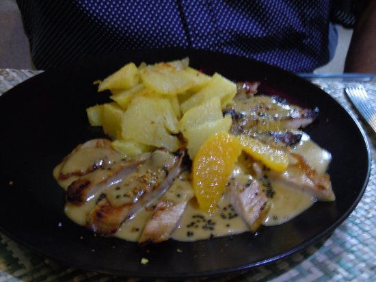The Beach House: Pork with orange