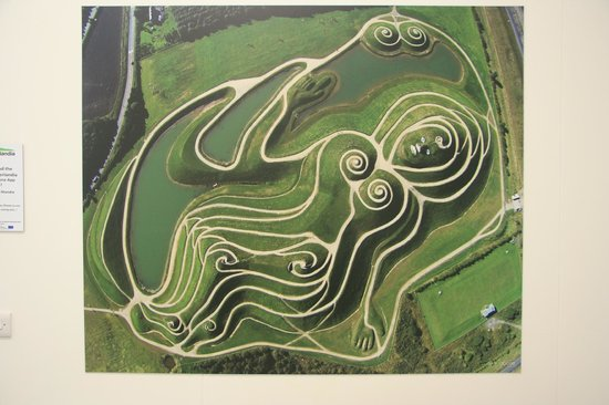 Northumberlandia: Arial view of the site (from a poster in the cafe, not an aeroplane!)