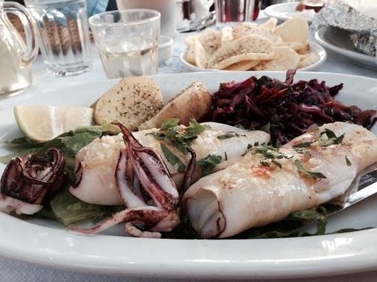 Gioma Taverna: calimare with chilli and garlic!
