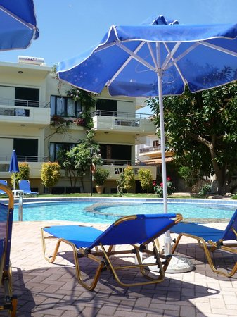Lefka Apartments: Lefka from the loungers!
