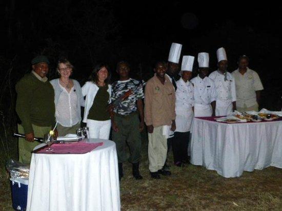 Mbuzi Mawe Serena Camp: Surprise dinner