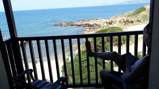 Calabona Hotel Alghero Sardegna: The beach from our room