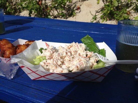 Breezes Resort & Spa Bahamas : snack bar fresh crab salad