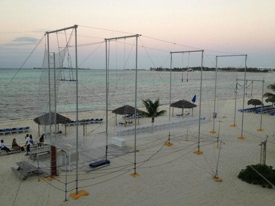 Breezes Resort & Spa Bahamas : the trapeze!