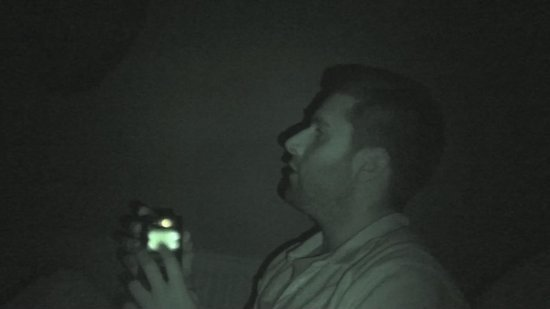 John explaining how to use paranormal equipment - Picture of