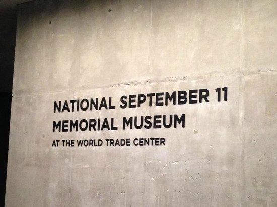 Memorial del 11S: Entree