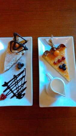 Amico Di Amici: Sicilian Lemon Tart & Chocolate Mint Cheesecake.