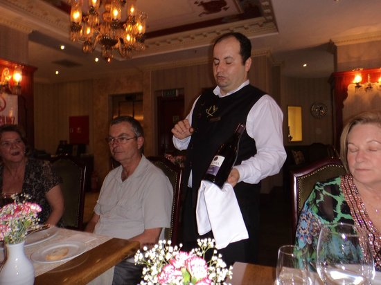 Sirkeci Mansion: Friendly wine steward at the free wine and cheese tasting event