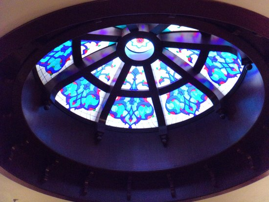 Sirkeci Mansion: The stained glass dome in the first floor lounge area