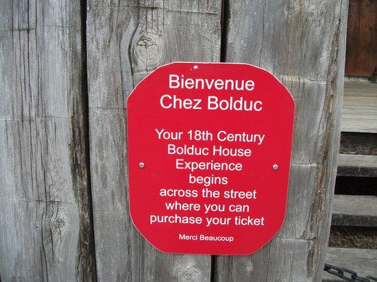 Bolduc House Museum : Maison Bolduc