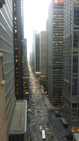 Warwick New York: View down 6th Ave from Wawick Patio 25th floor